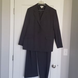 Charcoal pinstripe ladies suit